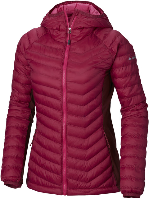 Columbia Powder Lite Light Hooded Jacket Women Wine Berry